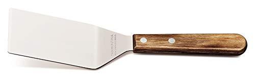 Tramontina 29810/405 Burgerwender, BBQ Wender, Grillwender, 25 cm, Edelstahl, Griff aus FSC-zertifiziertem Holz