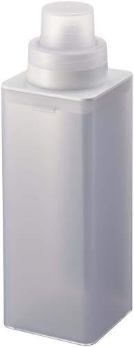 山崎実業(Yamazaki) マグネット詰め替え用ランドリーボトル ミスト ホワイト 約7X7.2X22cm ミスト 計量キャップ 簡単詰め替え 500ml 4854