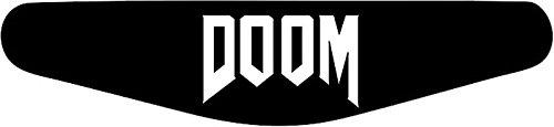Play Station PS4 Lightbar sticker motief selectie Doom (schwarz) zwart