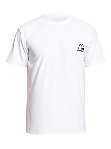 Quiksilver Heritage UPF 50 Camiseta De Surf, Hombre, Blanco (White), S