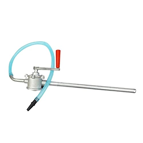 Mini Hand Crank Pump Portable Handle Heavy Duty Pumps Oil Water Large Flow Fast Self Priming Liquid Transfer Sump with Material Aluminum Alloy and Size Tube Diameter 13mm for Home Garden Boat Marine