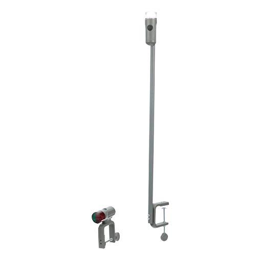 Seachoice 06261 Portable Battery-Operated LED Navigation Light Kit, Red/Green Bow Light, White Stern Light