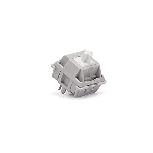 LICHONGUI Interruptores de ventisca de Plata Gateron para teclados mecánicos DIY (Size : 10pcs)