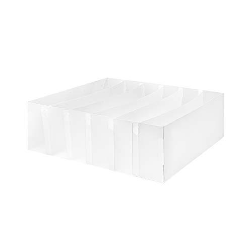 Compactor Organizador de cajón 6 huecos, Fabricado en polipropileno, Color translúcido, Tamaño, 30.5 x 30.5 x 10 cm, RAN6318