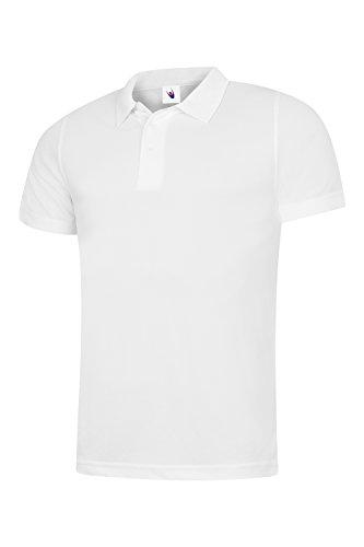 UC127 Uneek 200 gsm Hommes Super Isotherme Vêtement de travail Polo - Blanc, Large