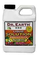 Dr. Earth 751 Liquid Solution Pro Biotic 3-3-3, 16-Ounce