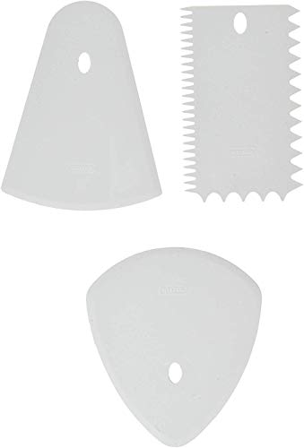 Kaiser Patisserie 769509 Set 3 spatole da Impasto, in plastica