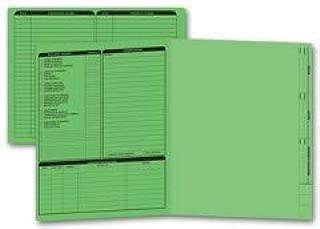EGP Letter Size Real Estate Listing Folder Left Panel - Green, 50 Folders