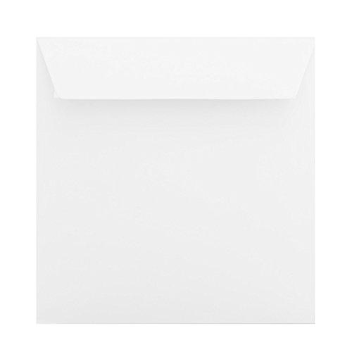 25 quadratische Briefumschläge 155 x 155 mm Haftstreifen Weiß 120 g/qm