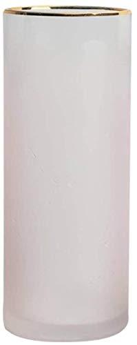 Ronde Desktop Vazen, Roze Groen glazen vaas Office Studio Bloemstuk Vaas in 2 maten Decor Vazen (Kleur: Roze, Maat: 10 * 10 * 25cm), Afmetingen: 10 * 10 * 15cm, Kleur: Groen