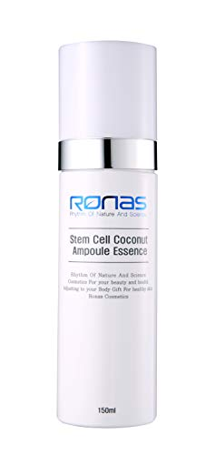 Ronas Stem Cell Coconut Ampoule Essence Advanced Anti Aging Formula.Dermatologists Approved and Recommended as Best Anti Aging Solution.Plant Stem Cells Rejuvenate your Skin.Korean Esthetician's