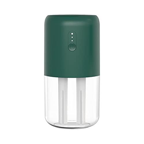 WWDKF Humidificador, Pequeño Atomizador Silencioso para Aire De Escritorio En La Oficina En Casa, Humidificador De Doble Chorro para Mini Coche,Verde