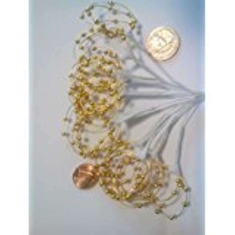 Pearl Sprays Gold Bead Loops, Pack of 36 Stems