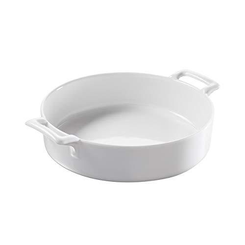 Revol - plat rond profond en porcelaine blanche - belle cuisine Couleur - Blanc, Tailles - H. 5,5 x Ø 18,5 cm - 100 cl