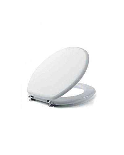 Metaform 59085004 Abattant WC en bois MDF laqué blanc, standard, unique