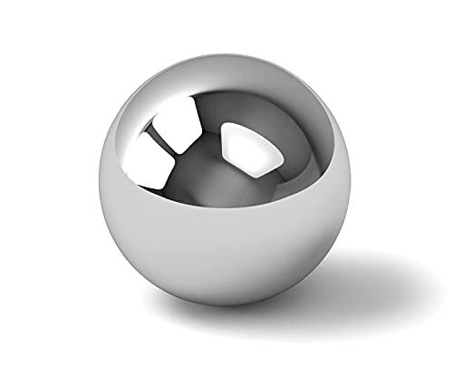 1x Dekokugel aus Edelstahl glänzend Ø ca. 15cm - Deko Kugeln für den Garten & Teich - Dekokugeln Silber Schwimmkugeln Teichkugeln Gartenkugeln