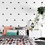yesky Fácil Triángulo Negro geométrica de color blanco pintado, 10mx0.53m Completo Pintado, Salón Dormitorio–Papel pintado, sofá TV Pared de fondo, habitación de los Niños Calientes Decoración