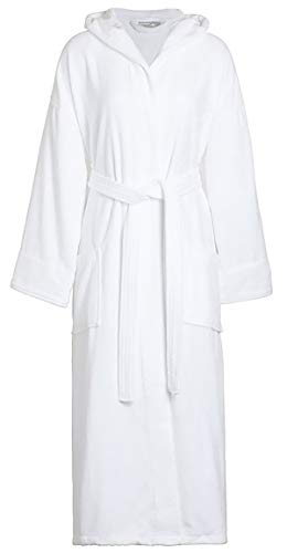 Spa & Resort White Terry Velour Bathrobe 100% Cotton, Full Length 51 Inches. Unisex