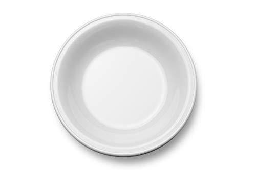 Garnet Plato Hondo melamina, diámetro g, Altura, plástico Resistente a los arañazos, a Las temperaturas, 100% Fabricado en Italia, 1 Unidad, Color Blanco, Ø 220 mm 230 grammi Altezza 35 mm