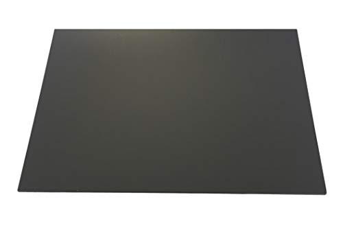 Hard PVC grijs RAL 7011 Dikte 3,0 mm 495 x 495 mm massief PVC hardplaat geschikt als scheidingswand