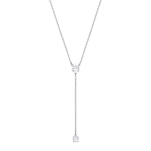 Swarovski Attract Y-Halskette, Weiß, Rhodiniert