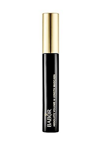 BABOR MAKE UP Absolute Volume Mascara black, Volumen-Wimperntusche für mehr Dichte, Fülle und Länge, Fake-Lash-Look, mit Silikon-Bürste, 10 ml