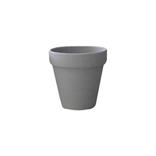 5pcs Small Mini Terracotta Clay Pot, Ceramic Pottery Planter Cactus Flower Pots, Succulents Nursery Plant Pot (Color : Gray, Sheet Size : 3x3cm)