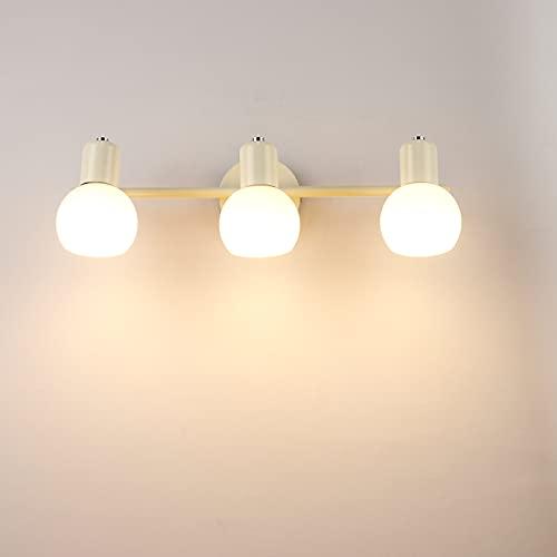 Susuo 北欧風 ブラケットライト 洗面所 ウォールライト 角度調整 キッチン トイレ 壁灯 室内照明 LED対応 ウォールランプ 110V おしゃれ 壁掛け照明 居間照明 カフェ インテリア 3灯 ホワイト