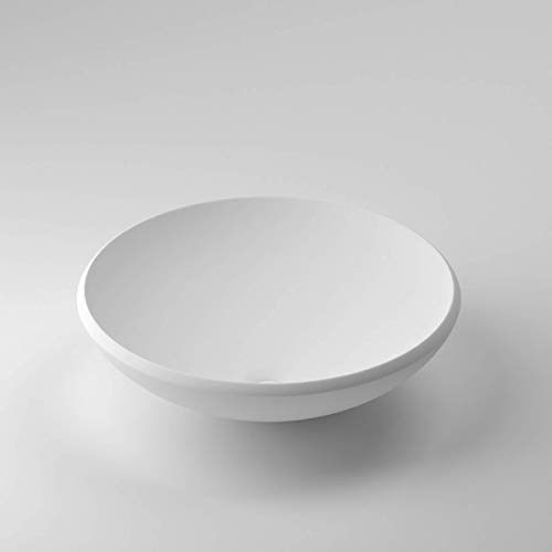 Lujoso lavabo | Lavabo | Lavabo | Esmaltado mineral/mármol fundido/Norwaystone, blanco mate, pequeño, rectangular, ovalado, redondo (Londres)