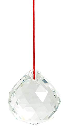 TrifyCore - Colgante de Bolas de Cristal de 40 mm con diseño de Flor