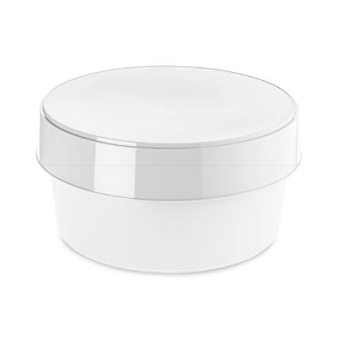 Koziol Boîte de Rangement, thermoplastique, Coton Blanc