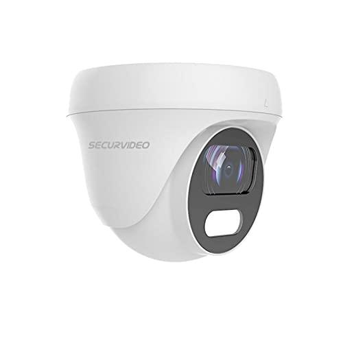 Securvideo Telecamera Mini Turret Dome 4K e 5Mp Ahd Cvi Tvi Cvbs 3.6mm Ibrida 4in1 Osd/Utc Ir 25m IP67