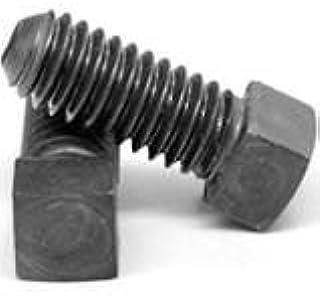 PT 3//8-16 x 4 Coarse Thread A307 Grade A Square Head Machine Bolt Low Carbon Steel Plain Finish Pk 100