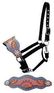 Showman Adjustable Nylon Bronc Halter w/Hand Painted Sunflower Noseband! New Horse TACK!