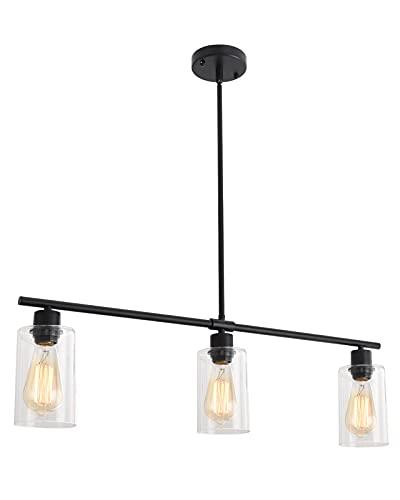 LWYTJO 3-Lights Pendant Light, Kitchen Island Linear...