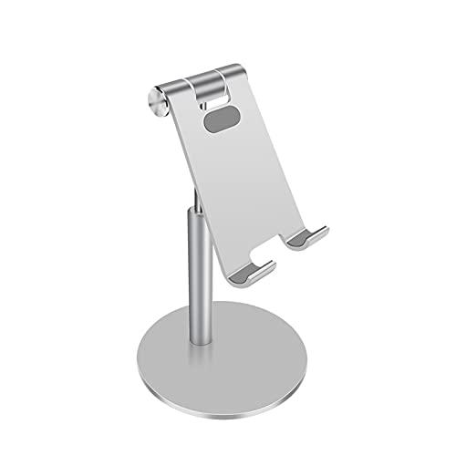 Soporte Movil TeléFono iPad De Escritorio De AleacióN De Aluminio Que Dobla La TransmisióN En Vivo TelescóPica,Silver