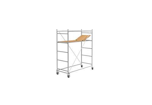 Trabattello altezza di lavoro 3,40 m in acciaio serie HOBBY CON PIANO BOTOLA made in italy I SCEDIL