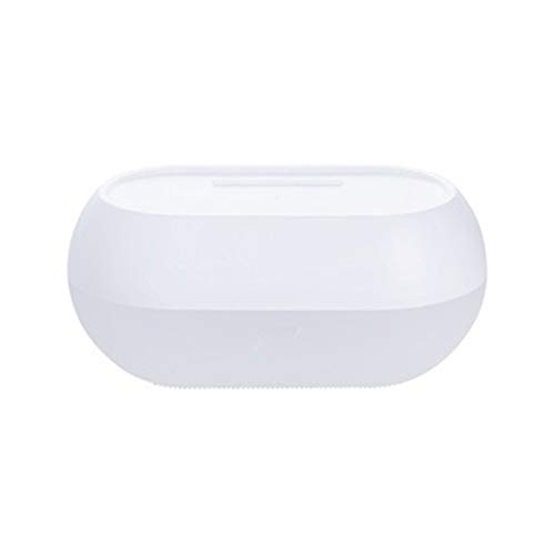 Montado en la pared soporte de papel a prueba de agua caja de taladro libre del tejido del rollo de papel Envase Caja de almacenamiento en rack de baño del hogar inodoro (Color : White)