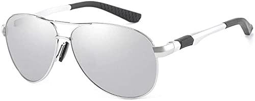 Vintage 100% UV400 protección conducción gafas de sol Al-Mg marco polarizado gafas de sol para hombres