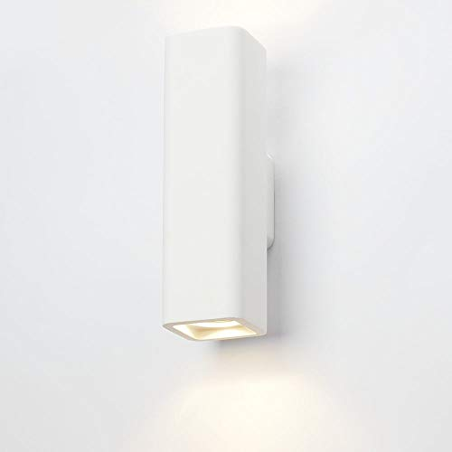 Applique murale Plâtre Thorsten Intensité variable eckige Up Down Lampe murale Blanc GU10 Lampe Couloir lampe recouvrable