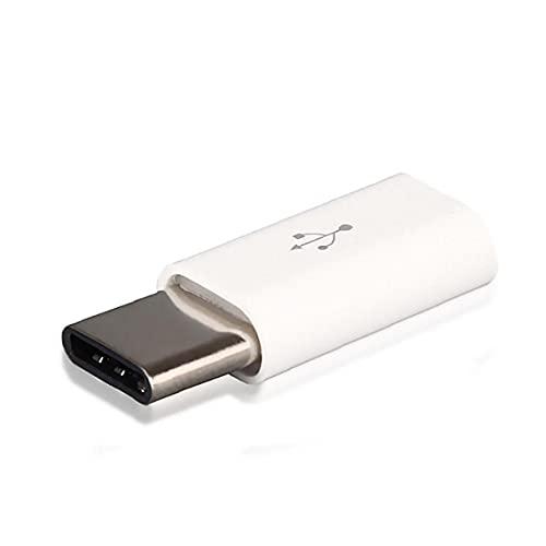 5pcs Mini Micro Micro USB a OTG 3.1A Adaptador Tipo C A Micro USB Cable conversor USB C Adaptador USB 3.1 Compatible con MacBook/Samsung S8 / Huawei / P10 / P9 / Adaptador de línea de datos (blanco)