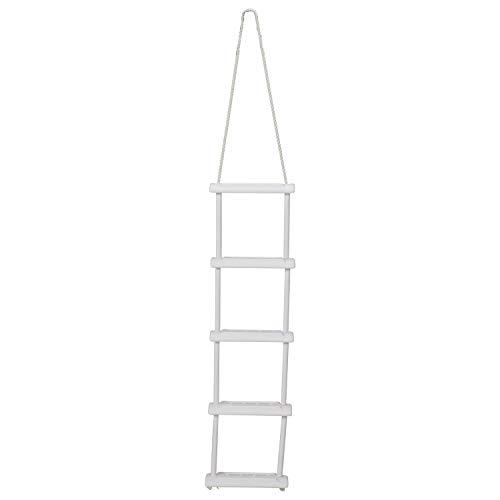 Attwood 11865-4 Escalera de Cuerda, 5 escalones, 11 3/4 Pulgadas de Ancho, escalones Moldeados por soplado, Superficies de peldaños texturizadas, Cuerda de Nailon