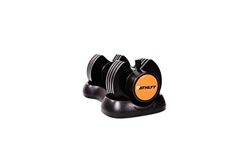Athlyt Unisex's 12.5KG ADJ Adjustable Dumbbell, Black & Orange, M