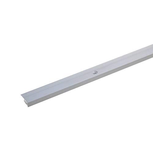 acerto 37197 Aluminium Abschlussprofil 2- teilig - 90cm – silber 4-7mm 20,5mm, gebohrt * Robust * Leichte Montage | Aluprofil als professionelles Wandanschlussprofil | Wand-Abschlussleiste für Laminat
