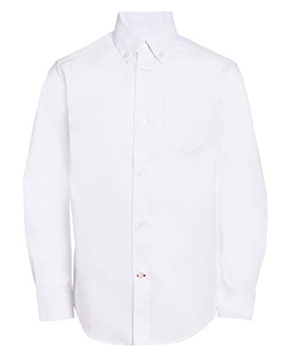Tommy Hilfiger Boys' Pinpoint Oxford Shirt, White, 12