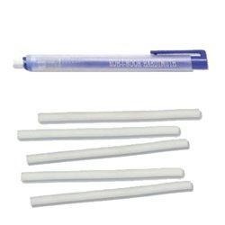 KOH-I-NOOR Radierer/Stift in Stiftform 12,5 cm Lang mit 5 Stück Ersatz Radiergummi blau