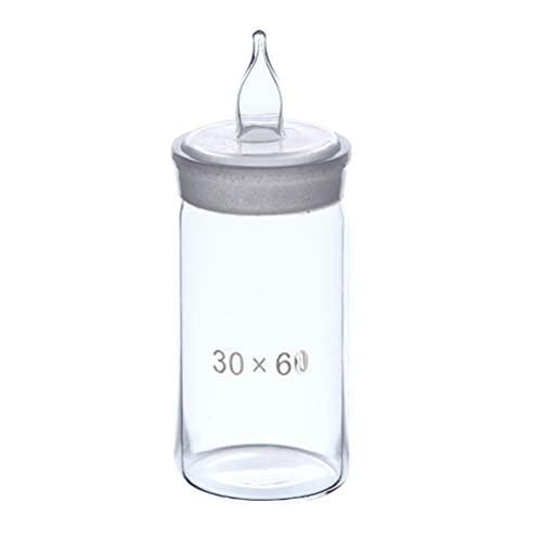 Scicalife Botella de Pesaje de Alta Forma de Botellas de Vidrio de Borosilicato de Gravedad Botella de Muestra Transparente Labware para Laboratorio de Sala de Química de Hospital Aparato