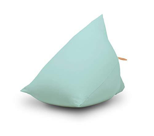 Ergonomischer Kinder-Sitzsack Sydney, Sitzsack von Terapy, Hellblau, Für drinnen und draußen, 60cm x 60cm x 60cm, 130 Liter, Mit EPS-Granulat, Aus samtig weicher Baumwolle