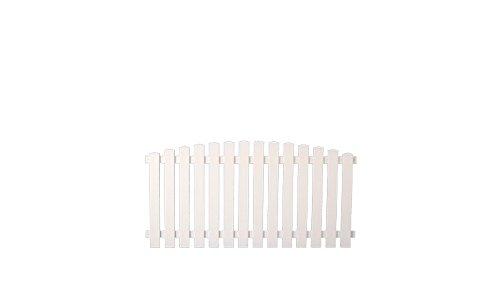 5 x Weisser Kunststoff-Zaun / Garten-Zaun aus Kunststoff weiß im Maß 180 x 80 auf 90 cm - Hochbogen - ( Breite x Höhe )