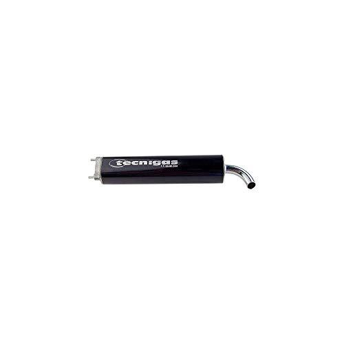WACOX Silencieux/Cartouche Scooter tecnigas Next r (alu Noir) 3 fixatrion entraxe 40mm
